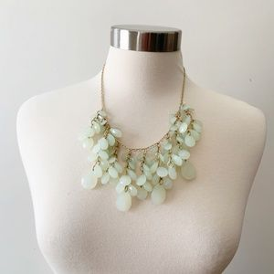 Seagreen Beaded Layered Statement Necklace Gold